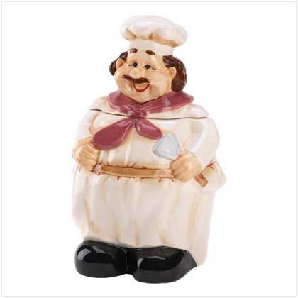 Le Chef Cookie Jar - FREE SHIPPING!