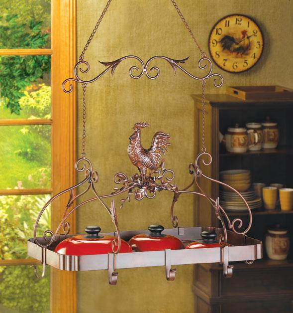 Country Rooster Kitchen Rack - FREE SHIPPING!