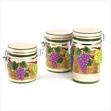 Grape Arbor Canister Set - FREE SHIPPING!