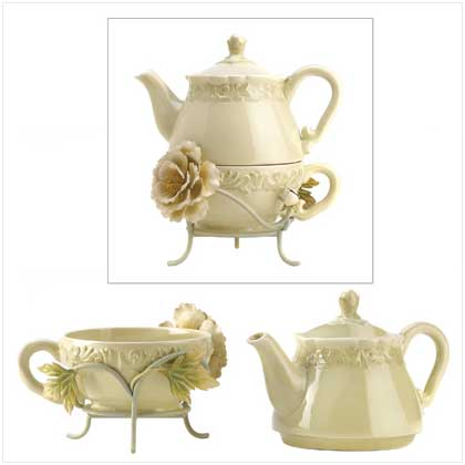 Victorian Peony Tea For One Set - FREE SHIPPING!