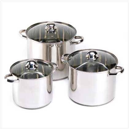 Stainless Steel Stock Pot Set - FREE SHIPPING!