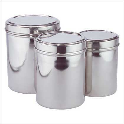 Stainless Steel Canisters - FREE SHIPPING!