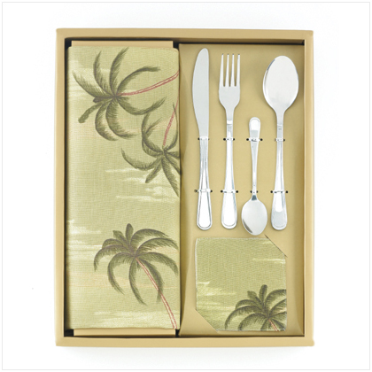 24 Pc Palm Tree Table Top Set - FREE SHIPPING!